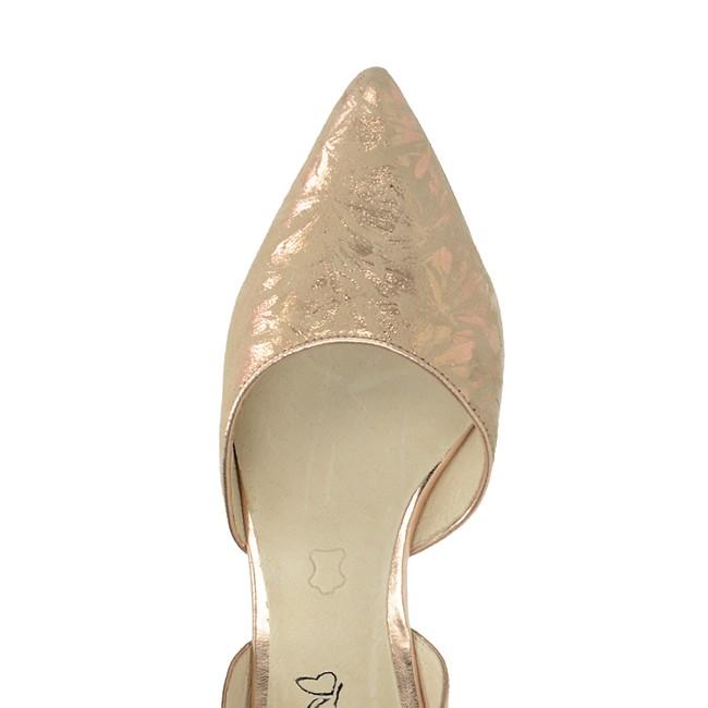 Caprice dámské elegantní sandály s řemínkem - bronzové