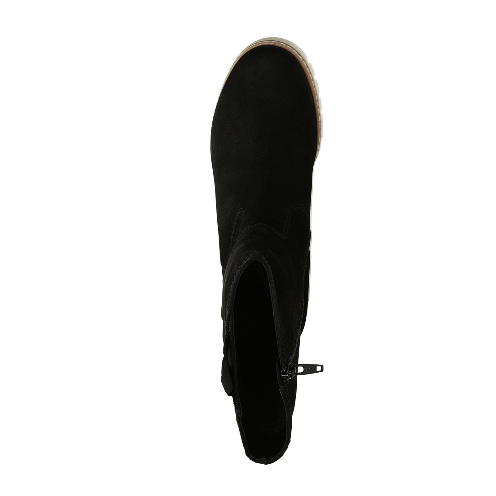 Gabor dámské stylové nízké semišové kozačky - černé