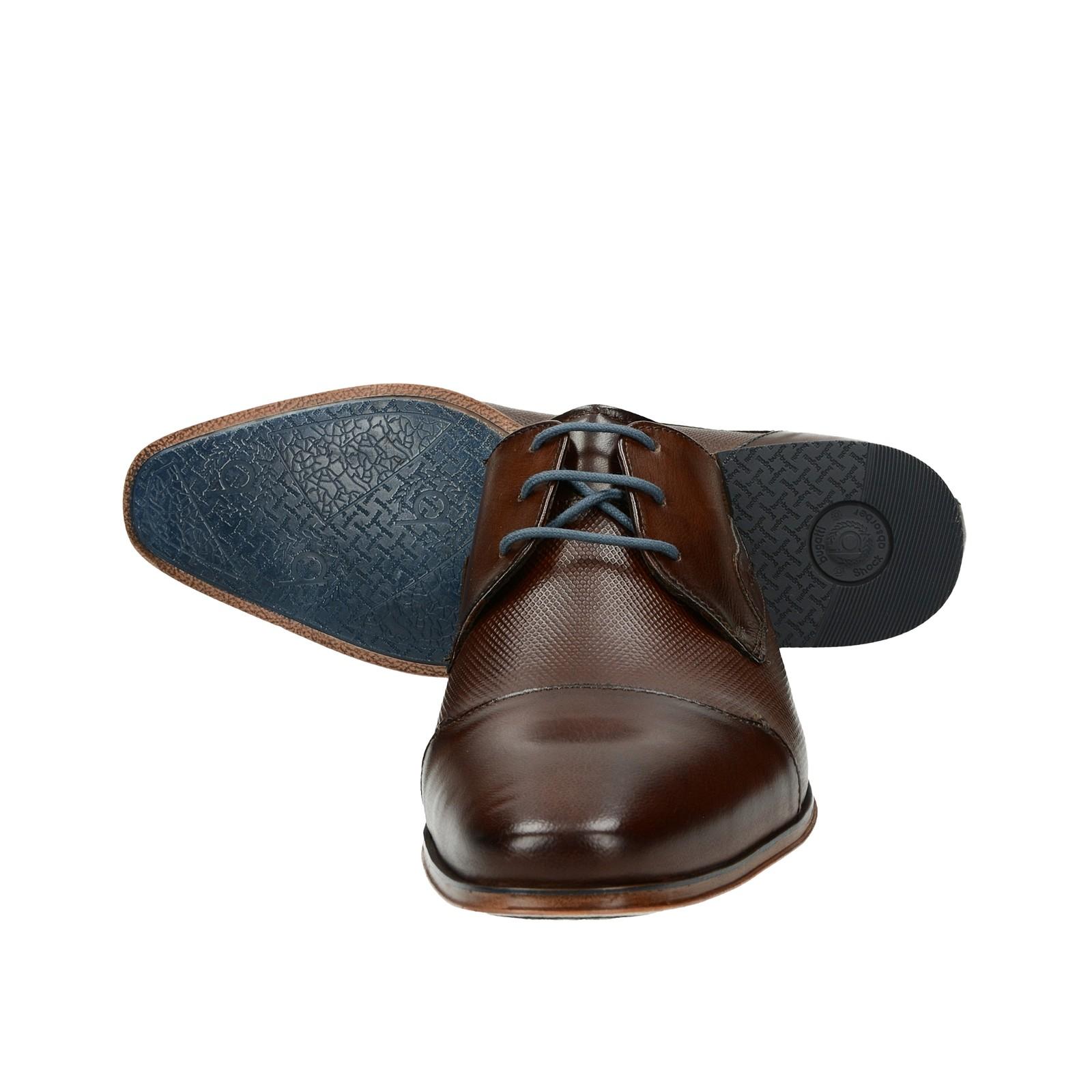 f905c36d60f ... Bugatti pánské kožené společenské boty - hnědé ...