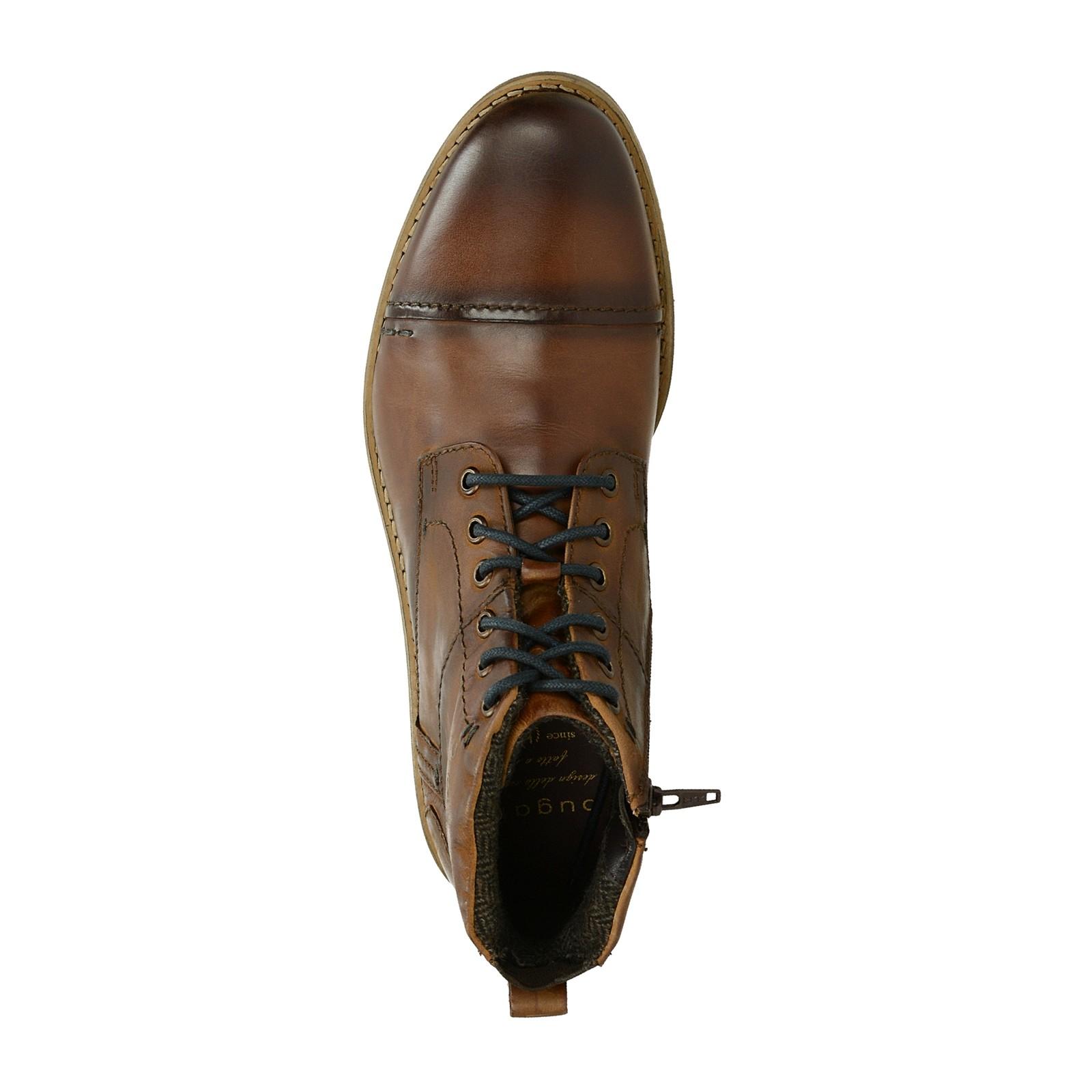 9c3c0331fb Bugatti pánská kožená kotníková obuv - hnědá ...