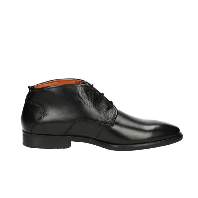 fa2793639da Bugatti pánská kožená kotníková obuv - černá ...