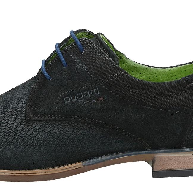 Bugatti pánské stylové polobotky - černé