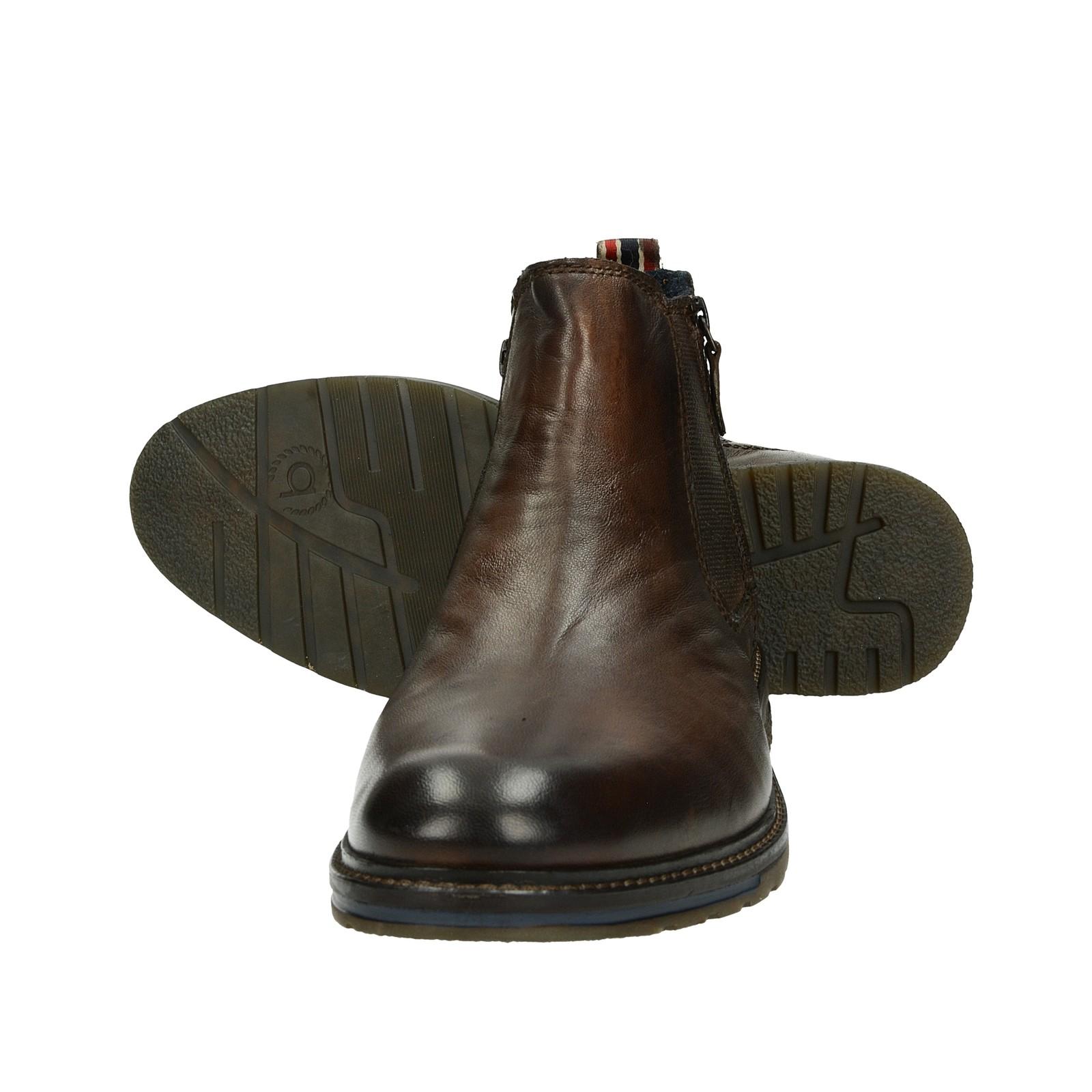 d4ff99485ab Bugatti pánská stylová kožená kotníková obuv - tmavohnědá ...