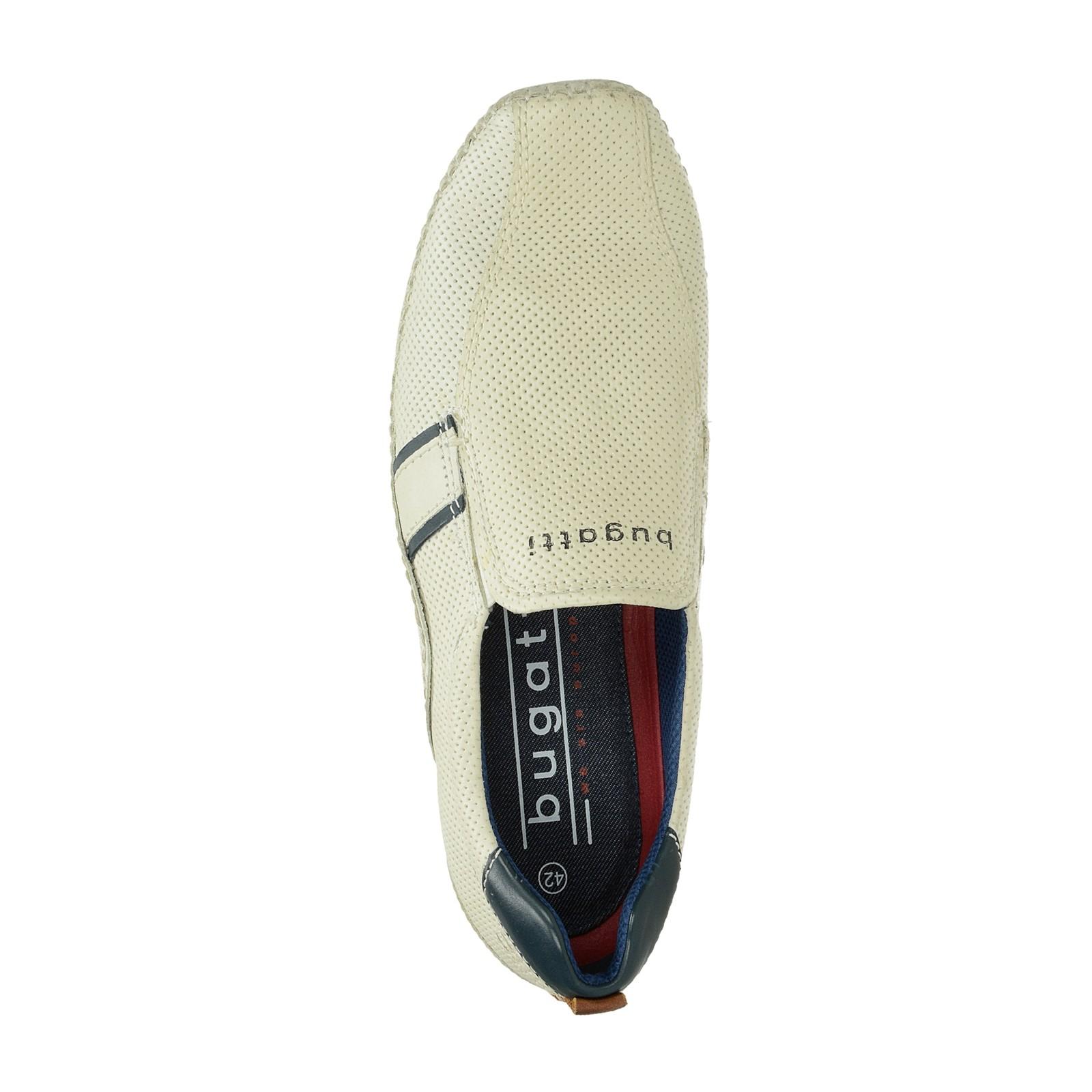 Bugatti pánské kožené tenisky bez šněrovaní - béžové