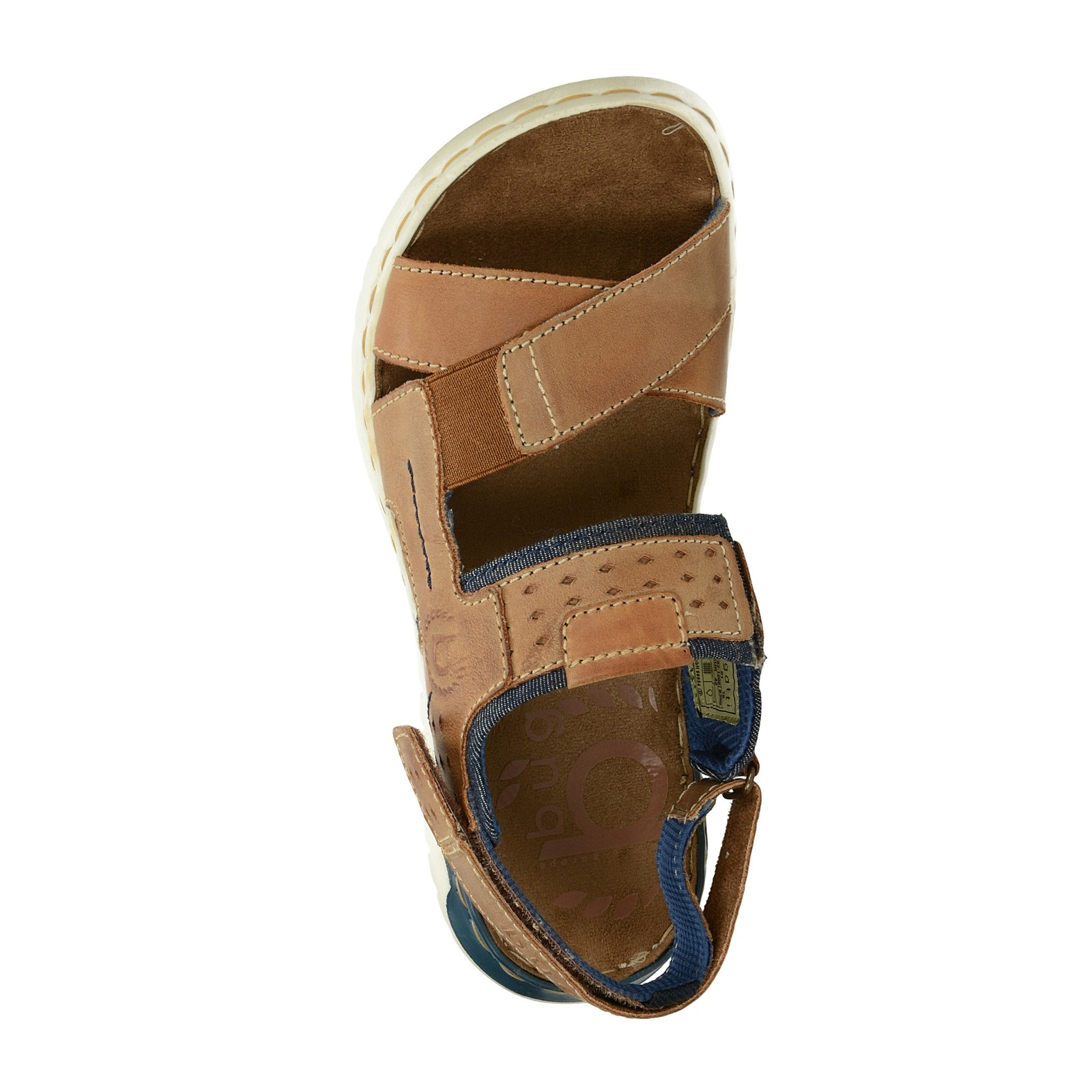 Bugatti pánské kožené sandály - koňakové