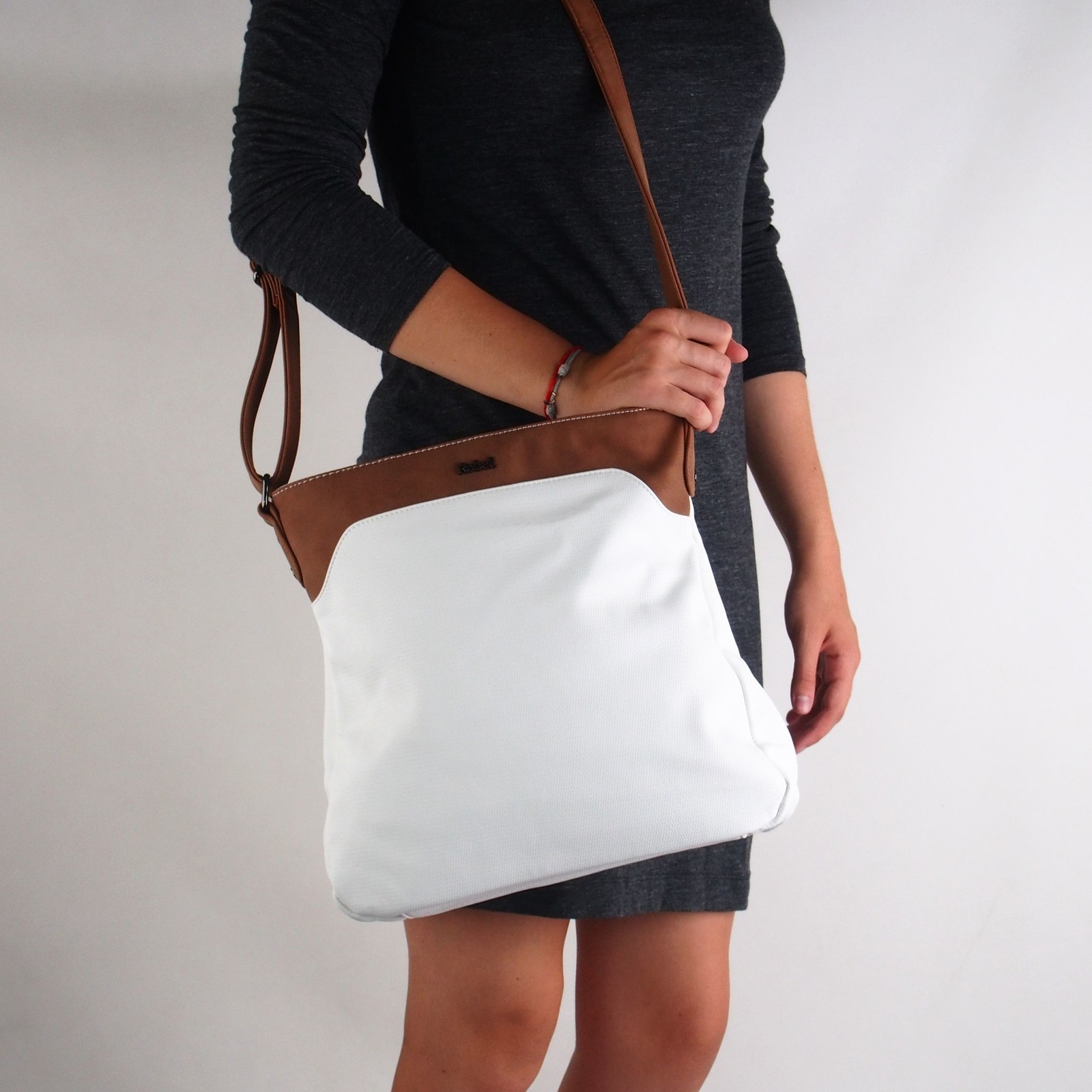 Robel dámská stylová crossbody kabelka - bílá