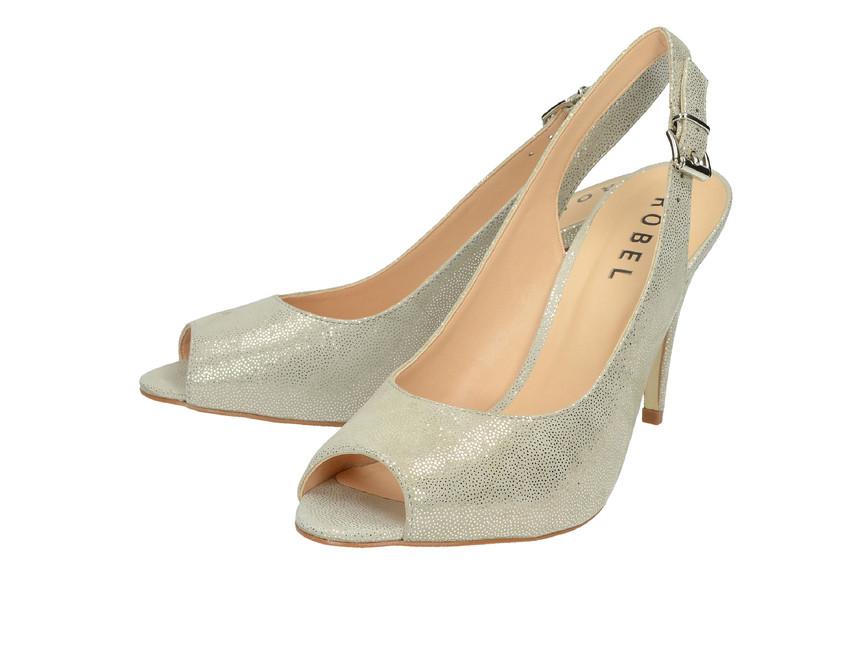 ... Robel dámské sandály na vysokém podpatku - šedé ... e9e7b5a179