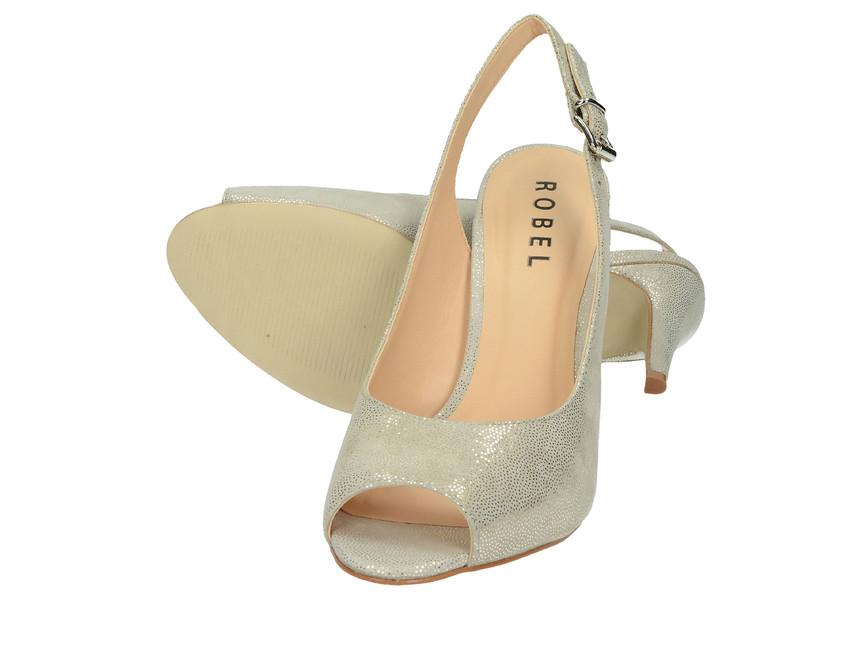 Robel dámské sandály na vysokém podpatku - šedé ... 1b725d0647