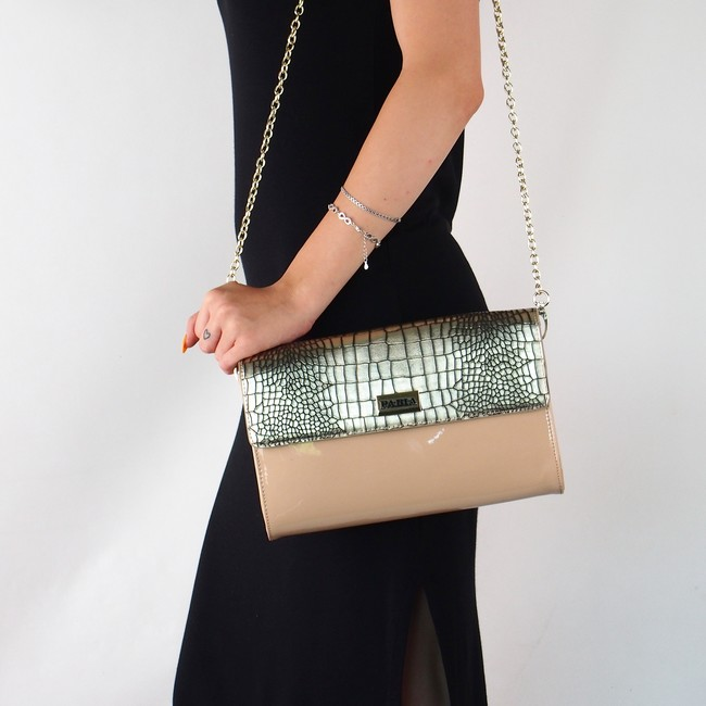 Pabia dámská praktická kabelka - béžovo zlatá