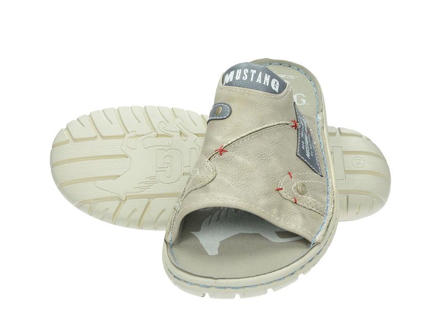 Mustang pánské pantofle nazouváky - běžové ... 737acb3e8e
