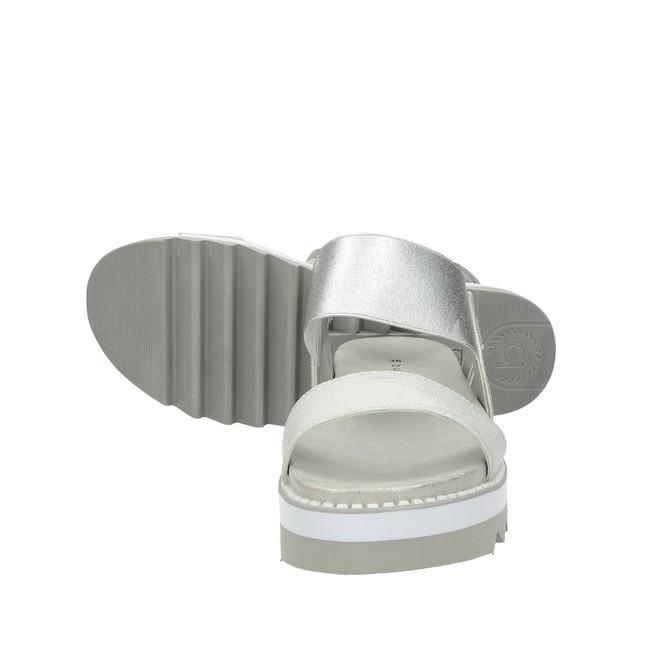 8cf2c4a479d ... Bugatti dámské elegantní třpytivé sandály - stříbrné ...