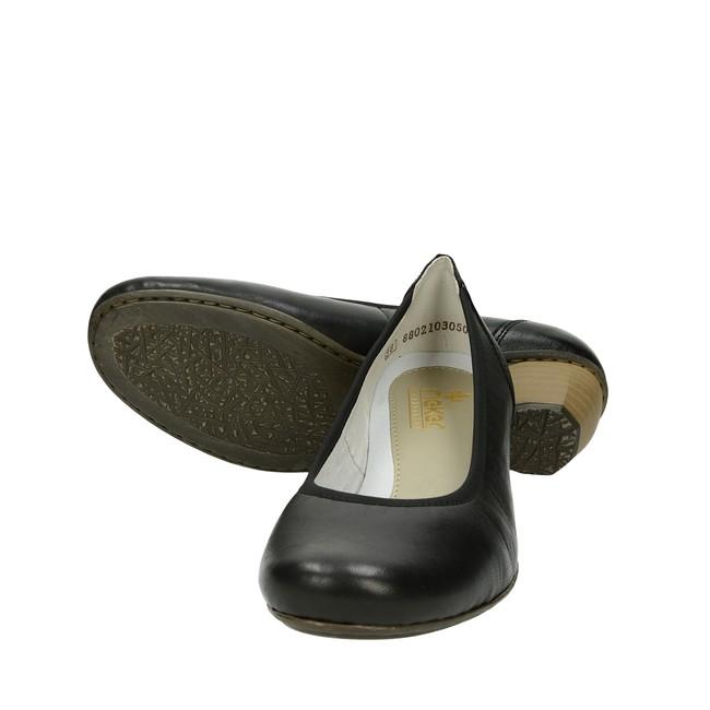 14eddb00ae4 ... Rieker dámské pohodlné lodičky na nízkém podpatku - černé ...