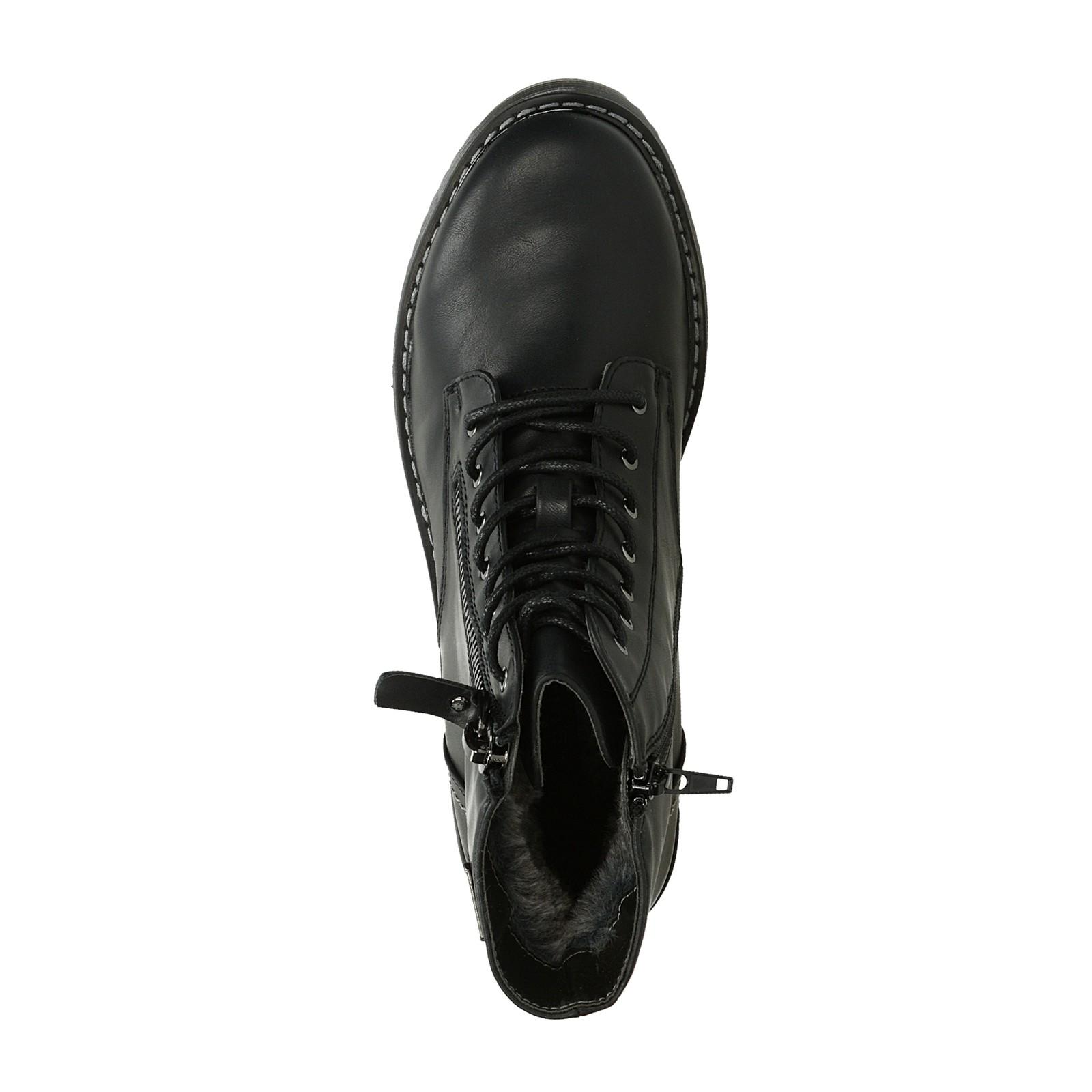 adce30d32db Bugatti dámské kožené zateplené kotníkové boty - černé ...