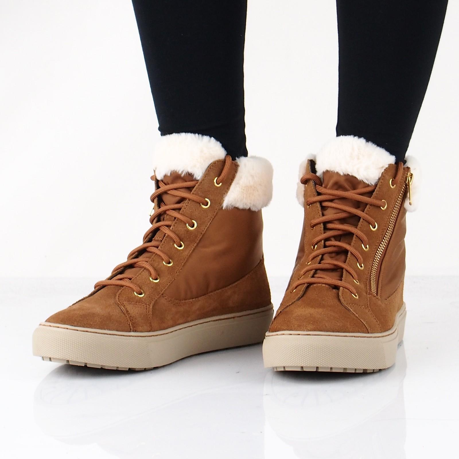Skechers dámské stylové kotníkové tenisky - hnědé