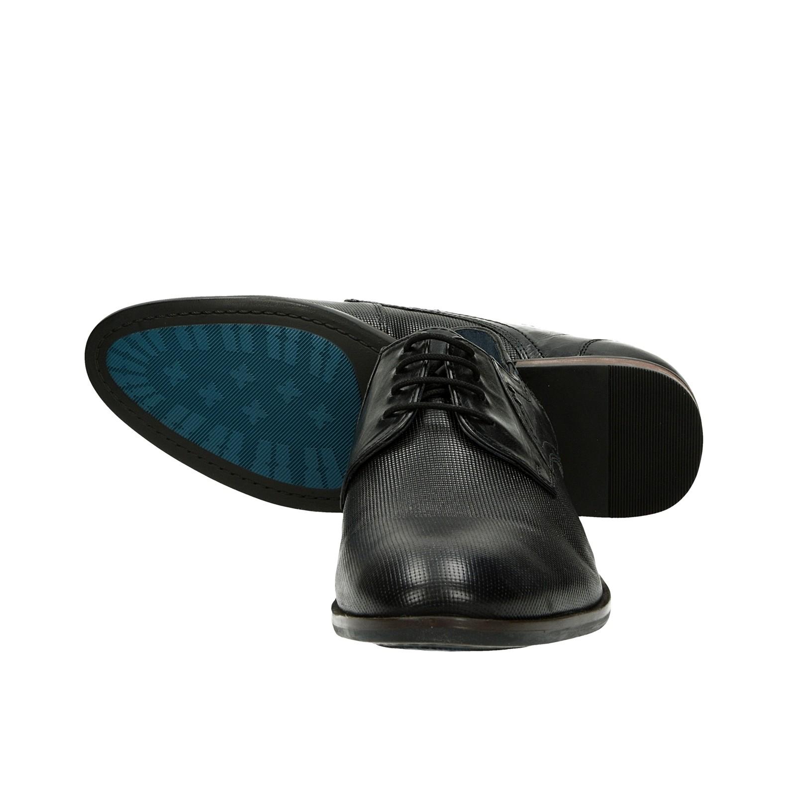 1ed61fab58e ... Robel pánské kožené společenské boty - černé ...