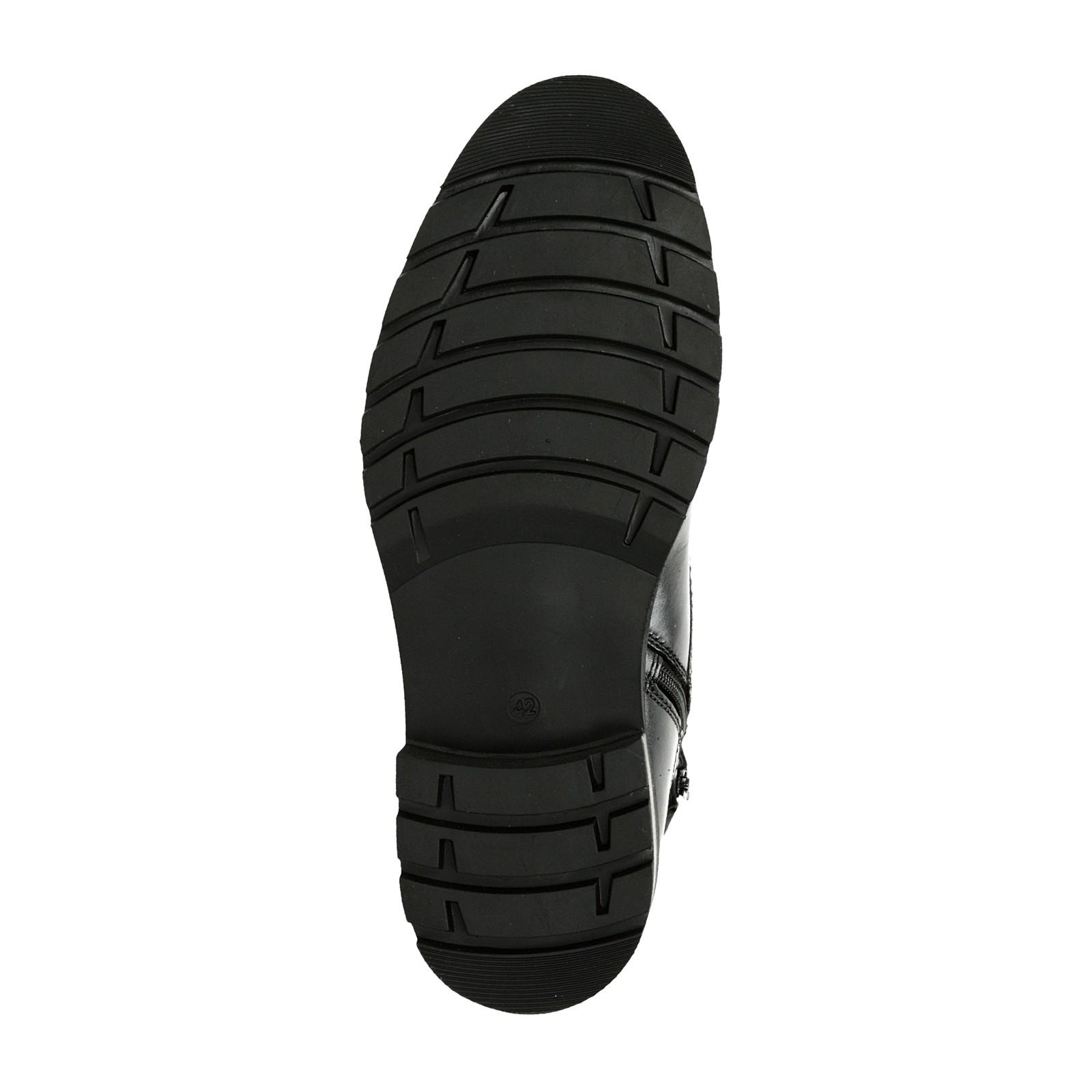 Robel pánské kožené zateplené kozačky - černé