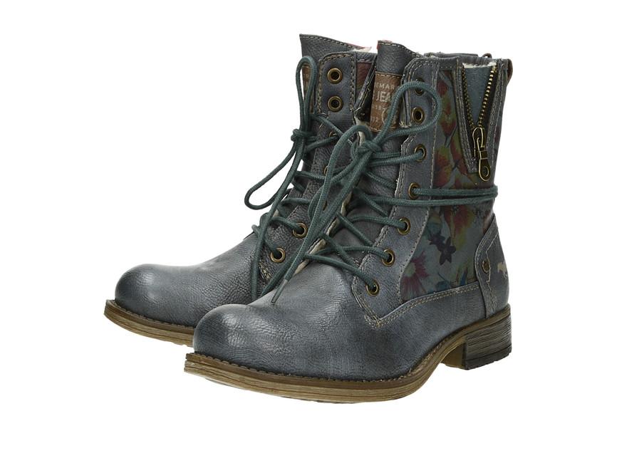 ... Mustang dámské kotníkové boty - modro šedé ... dc960c1d1d