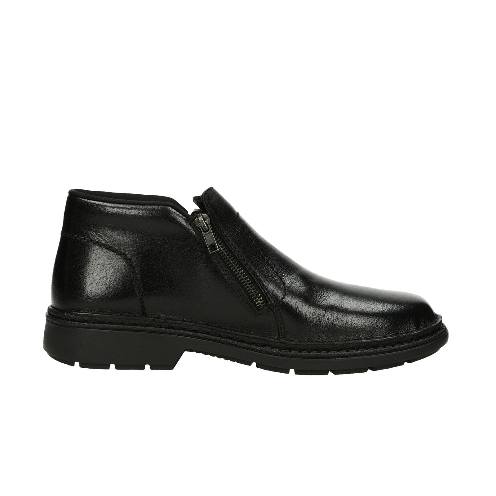 Rieker pánská kožená kotníková obuv - černá