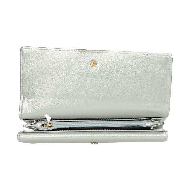 Pabia dámská stylová peněženka - stříbrná