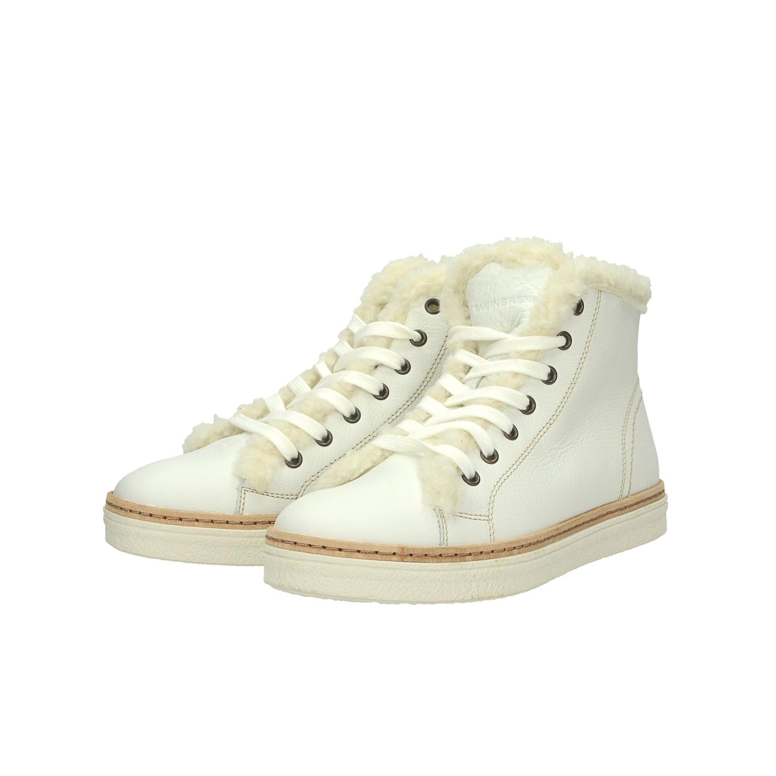 07b2324a5d ... Weinbrenner dámské kožené kotníkové boty - bílé ...