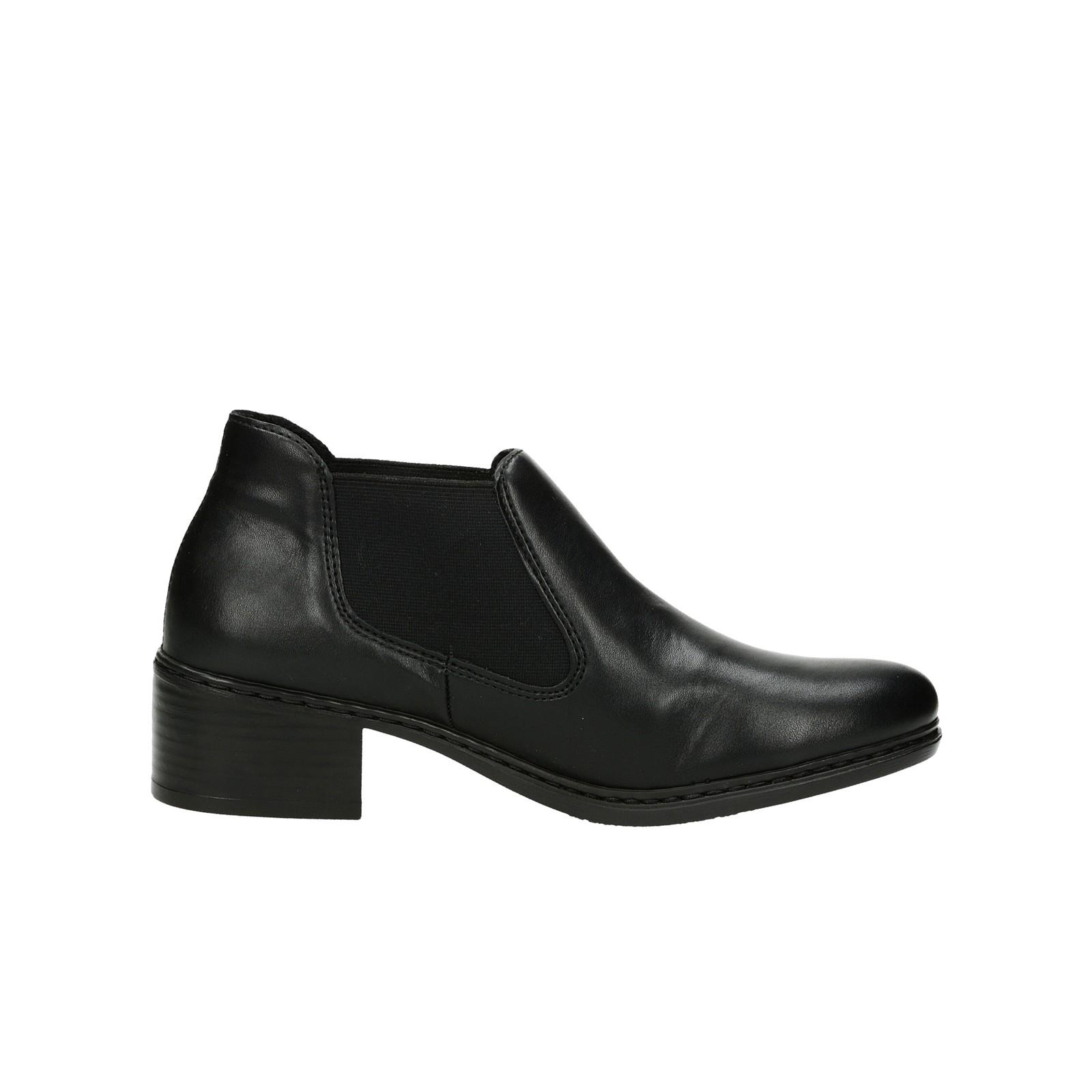 Rieker dámské pohodlné kotníkové boty - černé