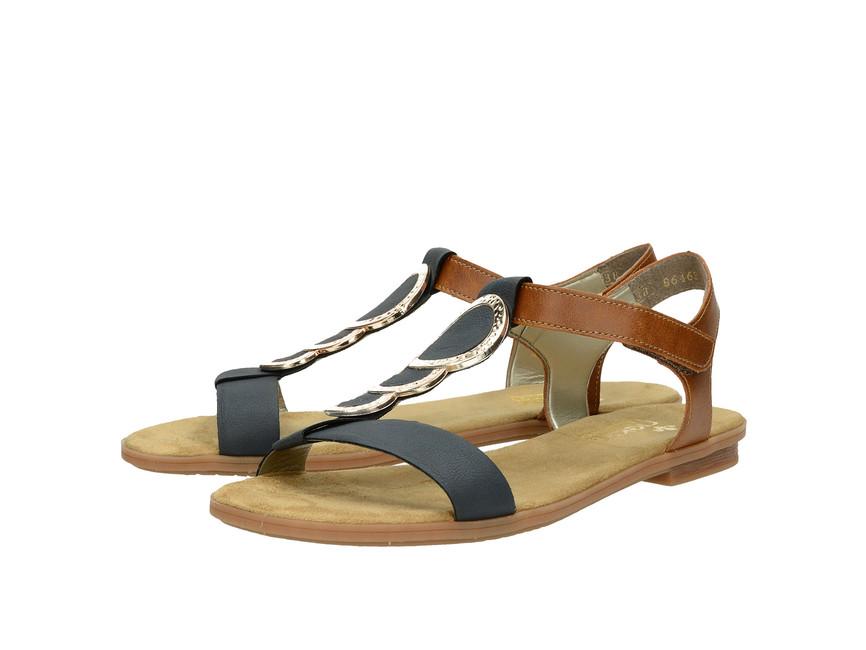 34fc4d13c0c3 Rieker dámské sandály - modrohnědé ...