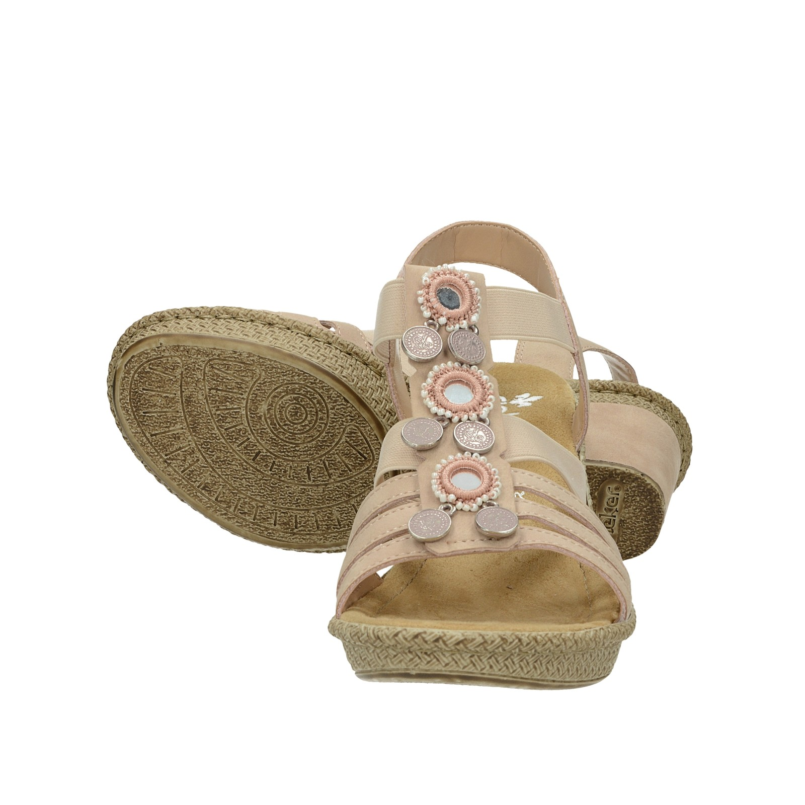 e578122e2c76 ... Rieker dámské stylové sandály s ozdobnými prvky - růžové ...