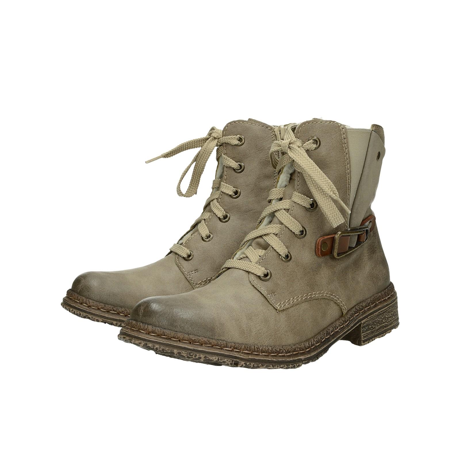 189e87c8e9 ... Rieker dámské zateplené kotníkové boty - béžové ...