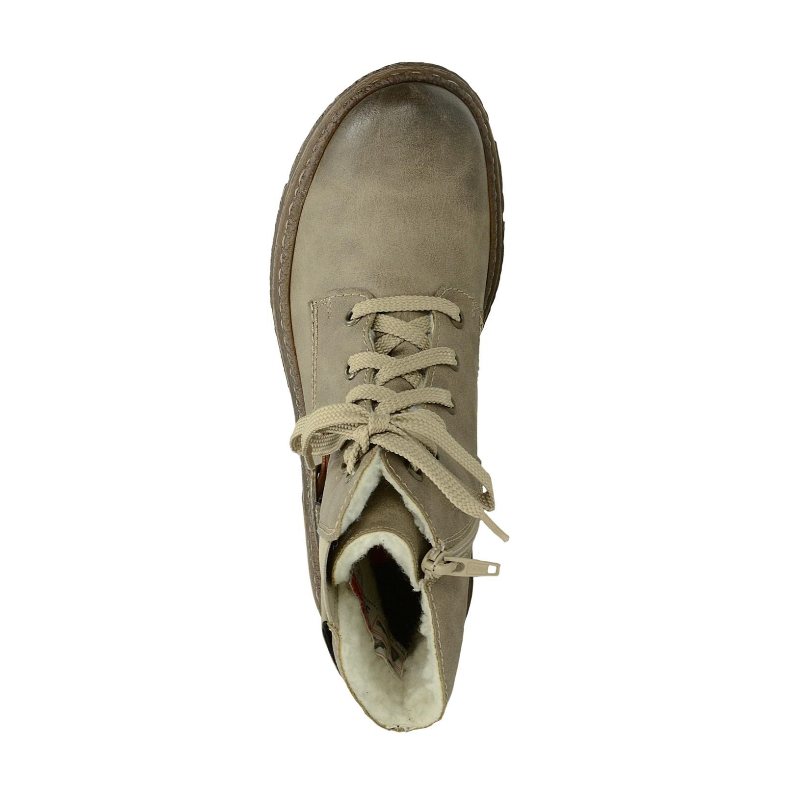 Rieker dámské zateplené kotníkové boty - béžové ... 8551038e72