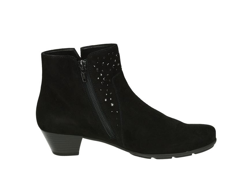 ... Gabor dámské kotníkové boty na podpatku - černé ... d8739681a5
