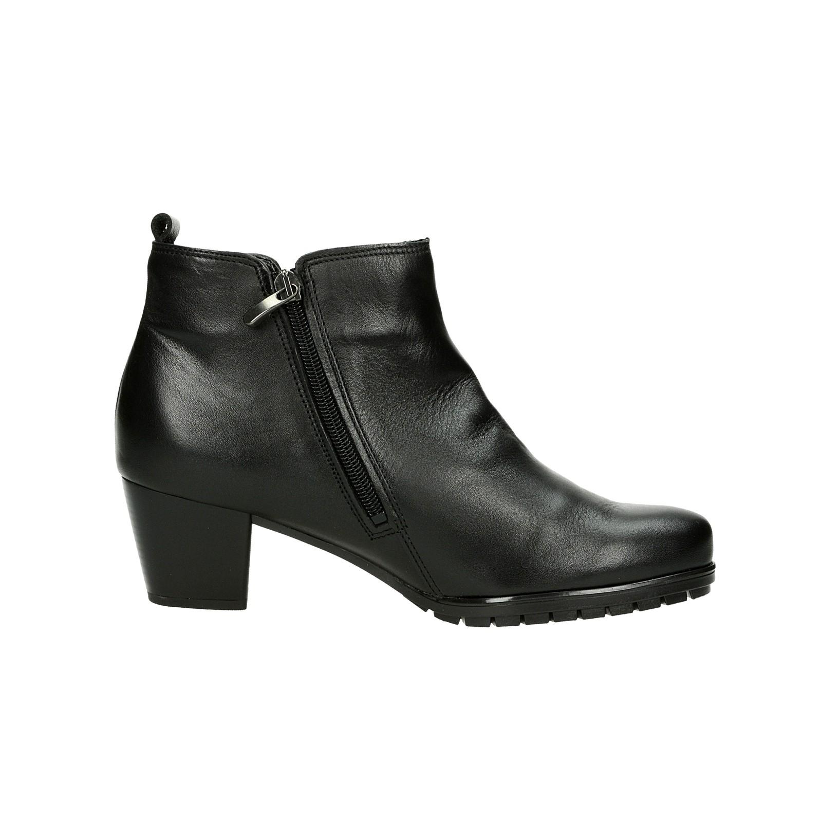 Alpina dámské kožené kotníkové boty na zip - černé ... 4d16e21655