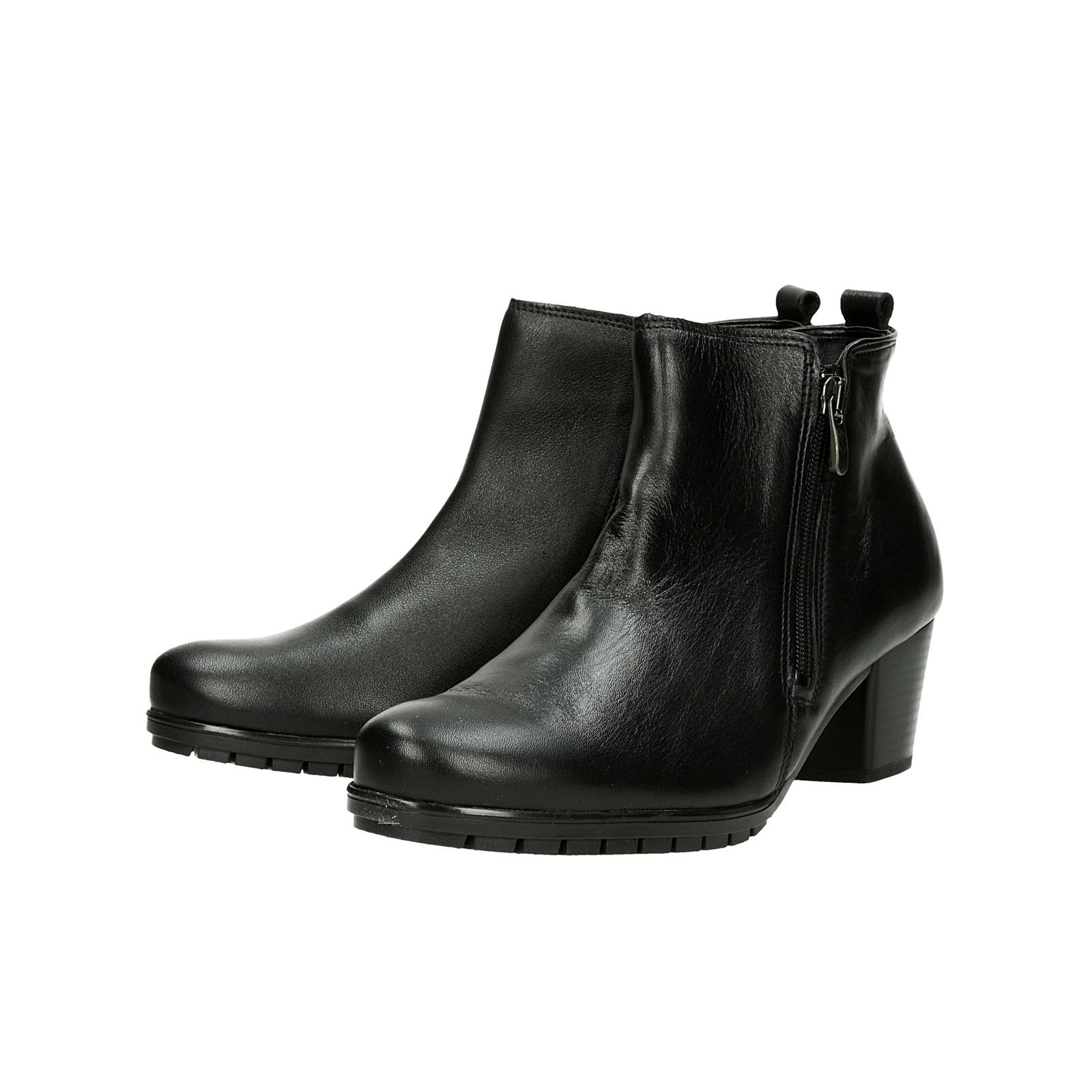 ... Alpina dámské kožené kotníkové boty na zip - černé ... 513c7dfcd0