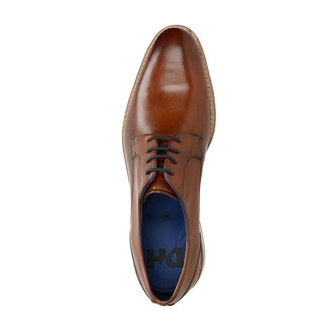 Daniel Hechter pánské kožené společenské boty - koňakové