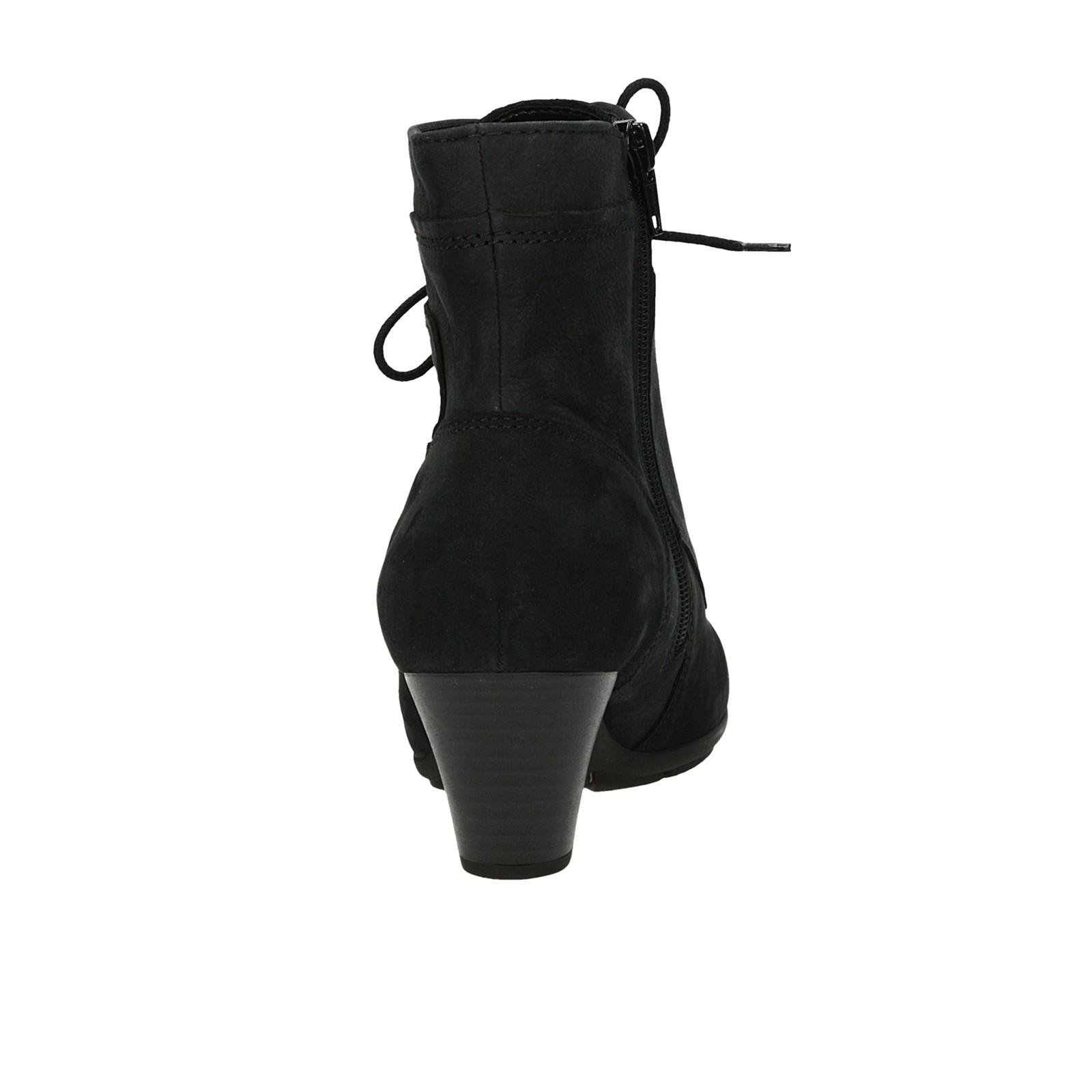 bc981773fbf ... Gabor dámské nubukové kotníkové boty na zip - tmavomodré ...