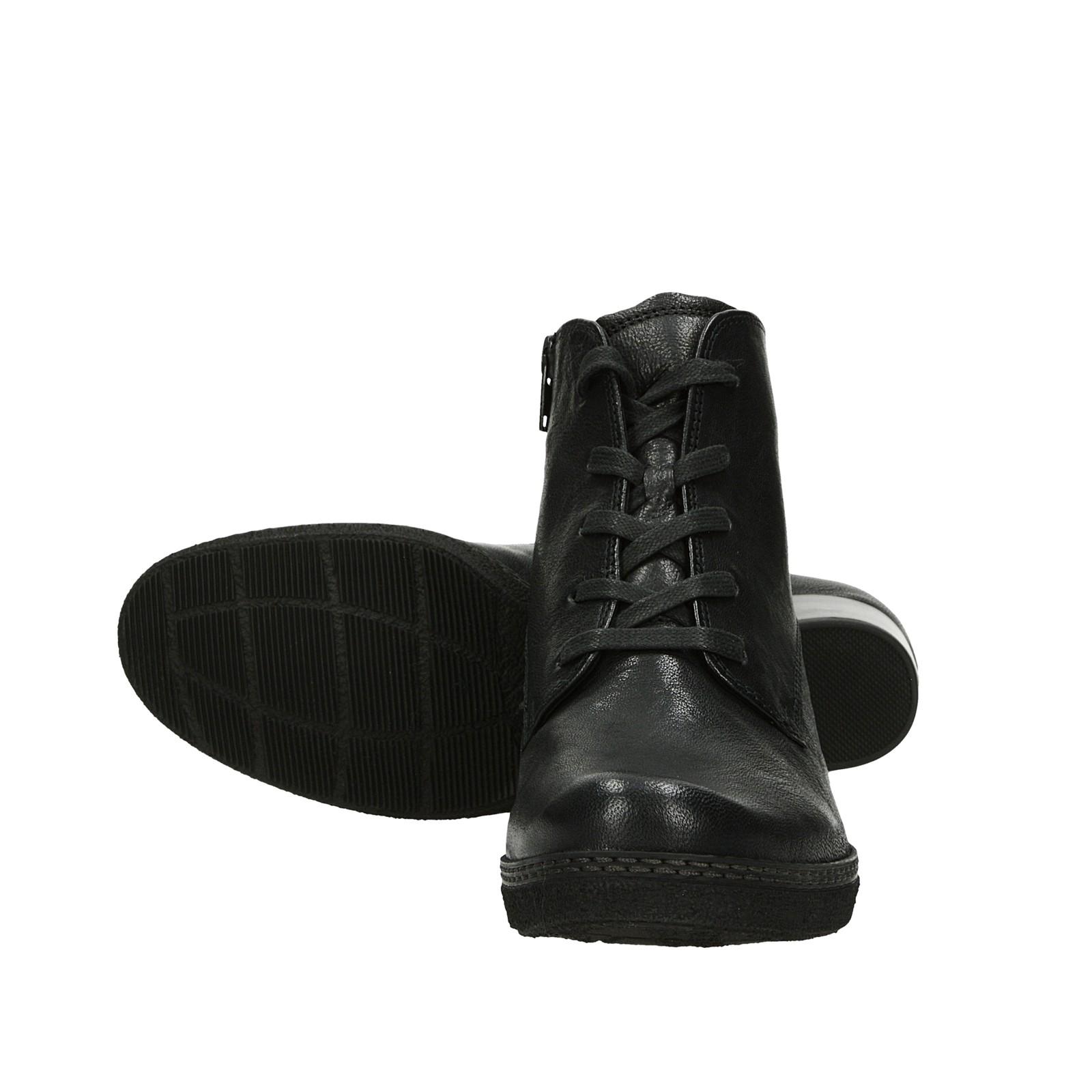 Gabor dámské kožené kotníkové boty - černé ... e73fd3fddc