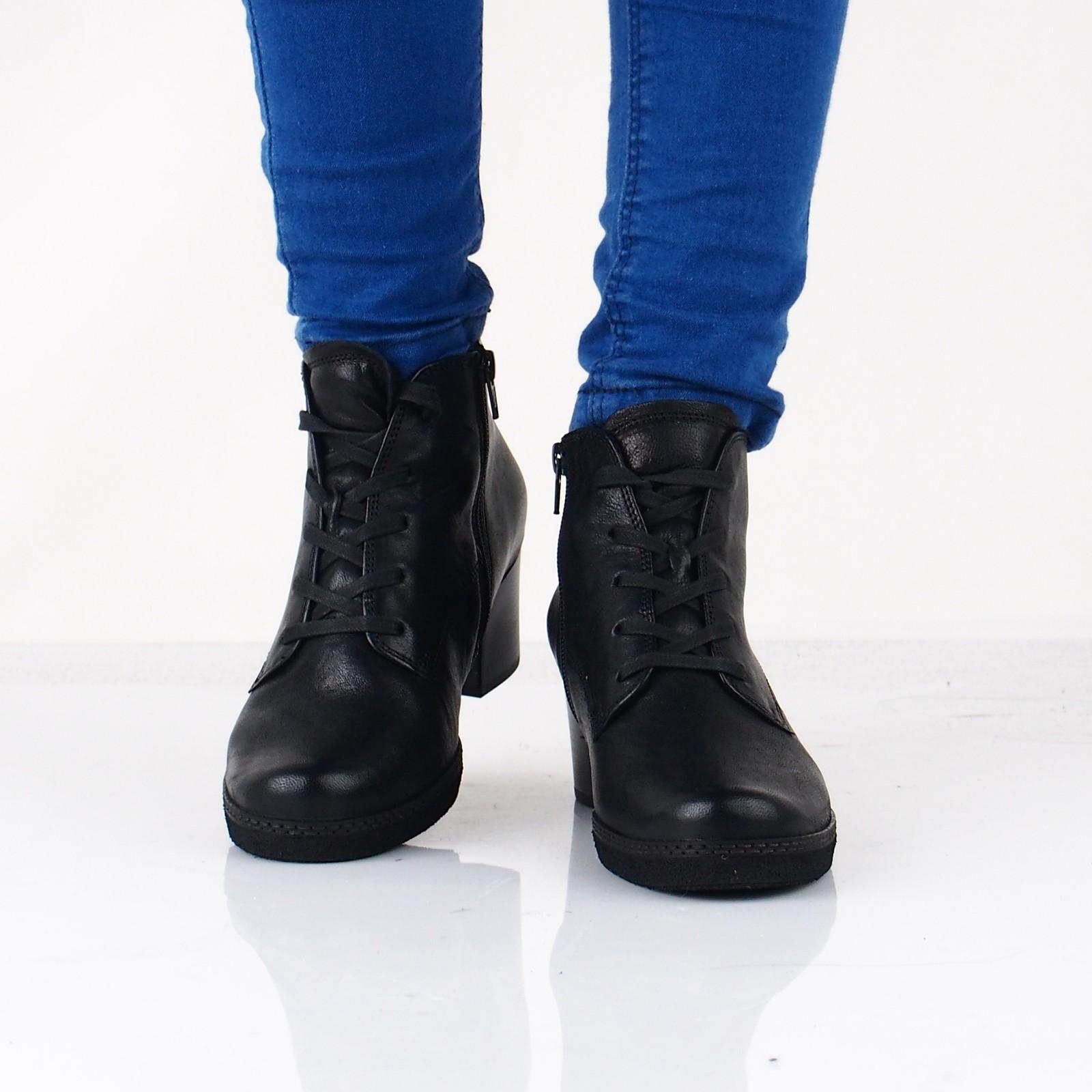 1d01bbf4c18 ... Gabor dámské kožené kotníkové boty - černé ...