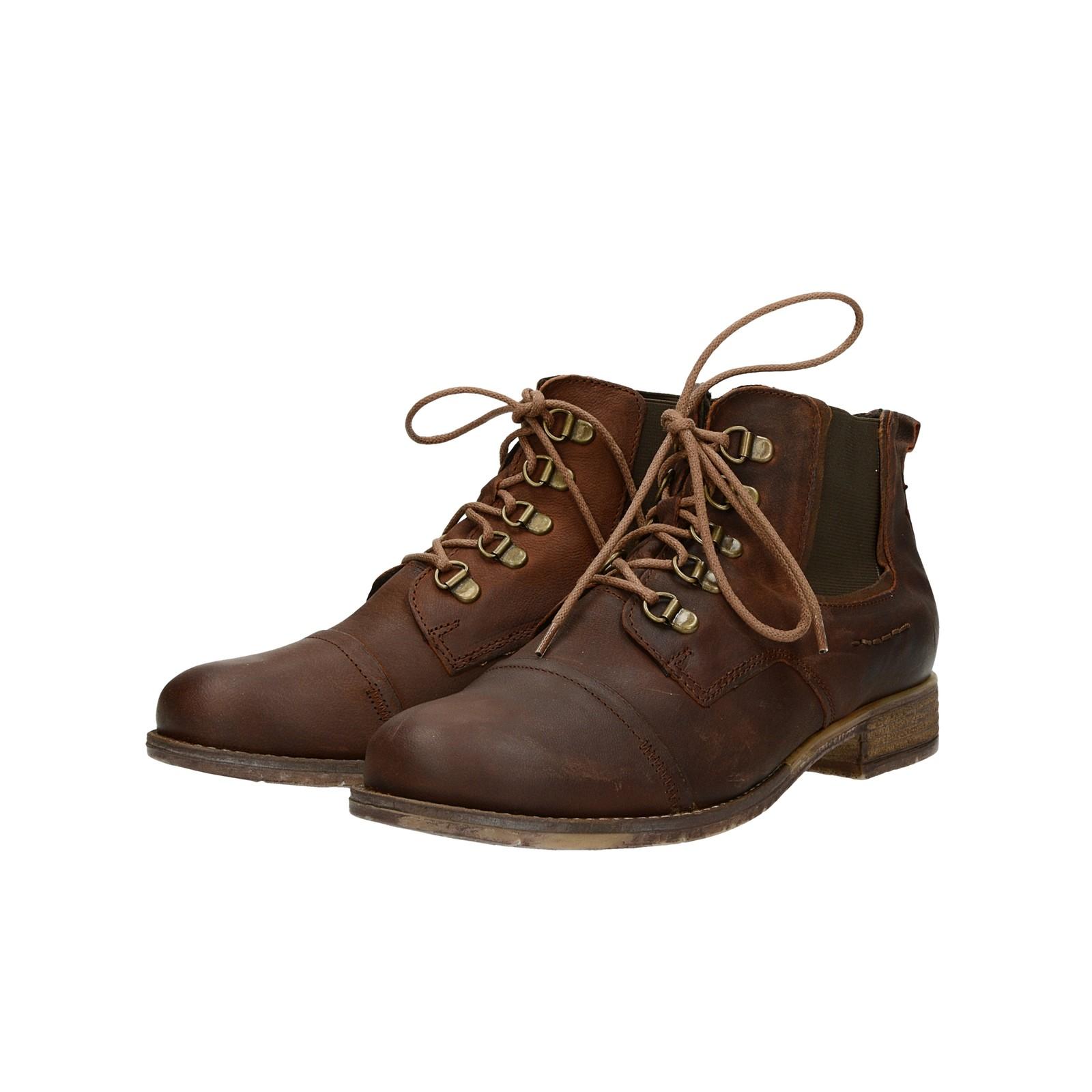 ... Josef Seibel dámské nubukové kotníkové boty - hnědé ... 64aaabdff1