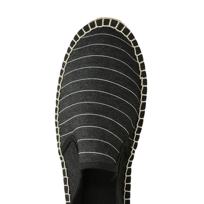 Big Star pánske pohodlné espadrilky se vzorem s pásky - černé