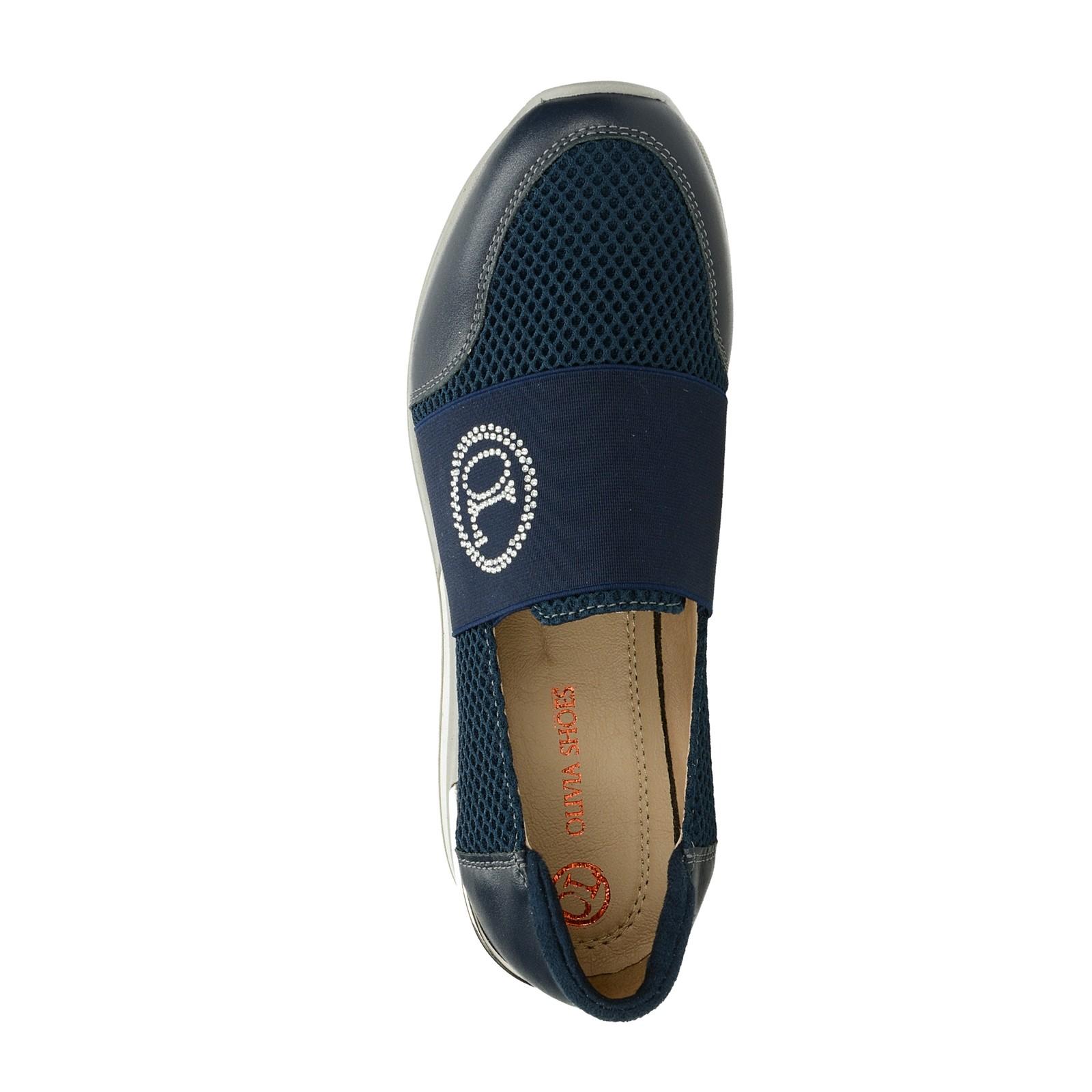 d6279c9e3 Olivia shoes dámské kožené stylové polobotky - tmavomodré | B801 ...