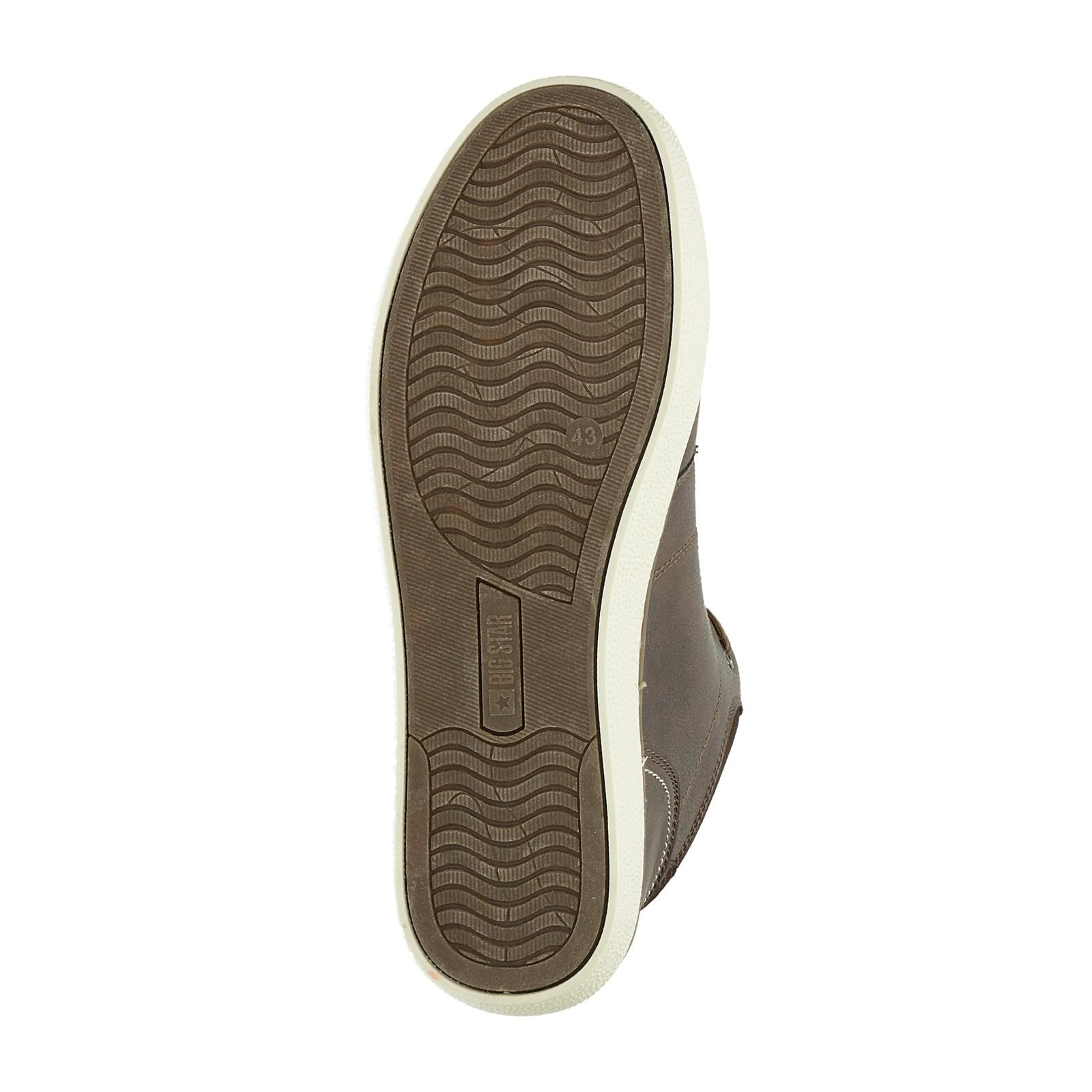 Big Star pánská zateplená kotníková obuv - tmavohnědá