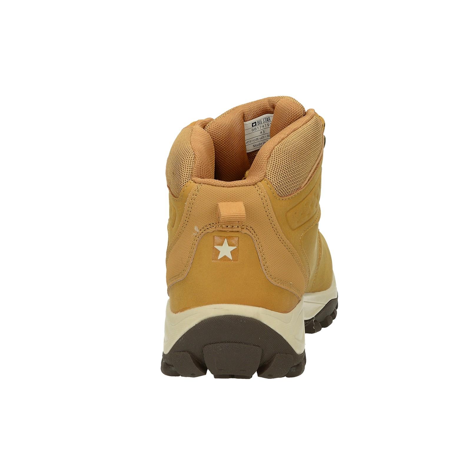 Big Star pánská zateplená kotníková obuv - béžová