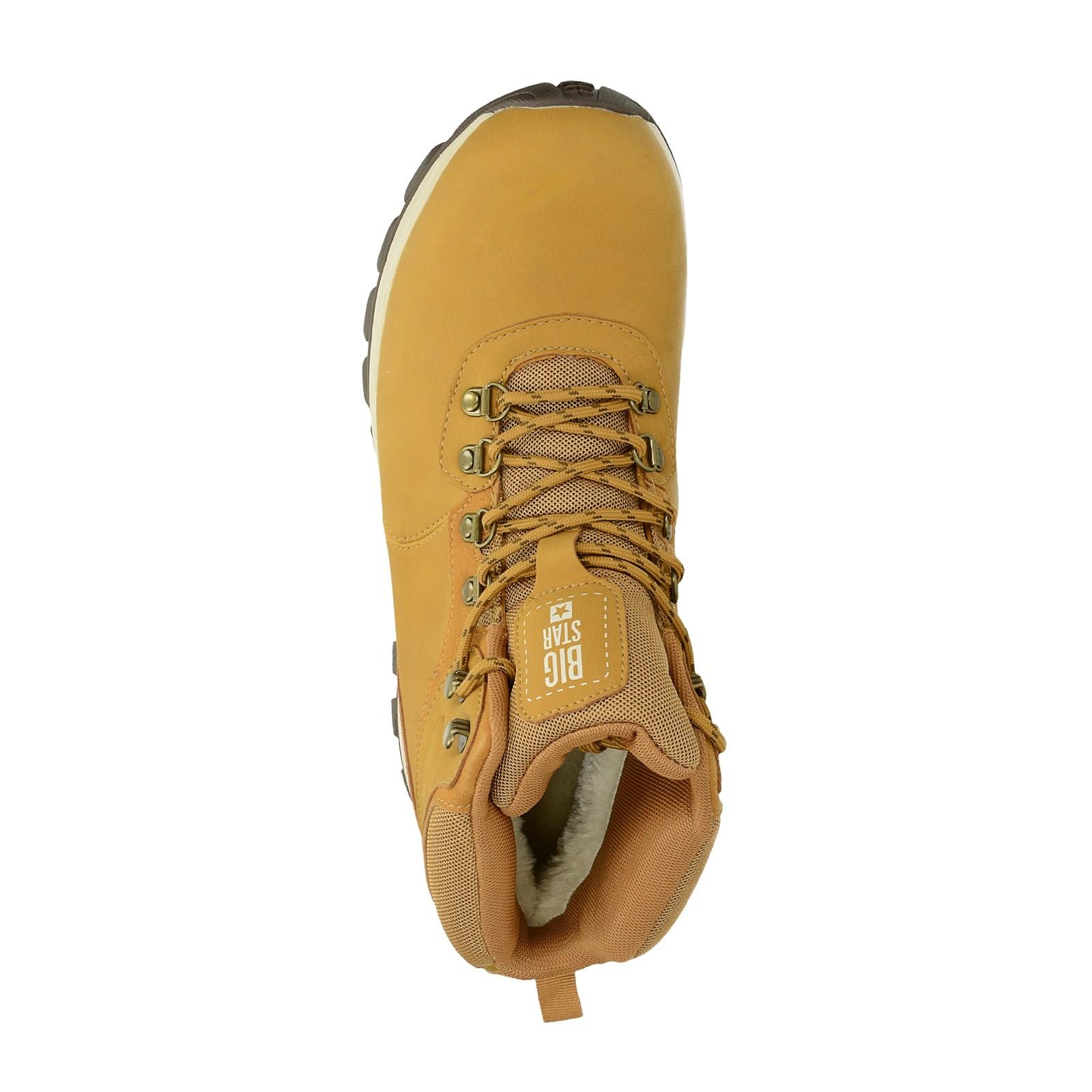 3db0987d018 Big Star pánská zateplená kotníková obuv - béžová ...