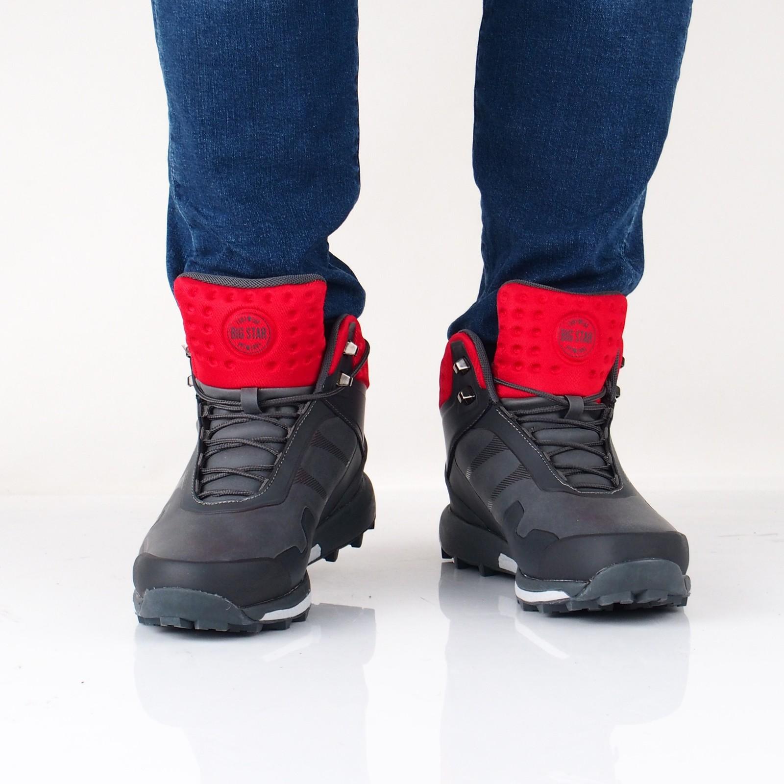 Big Star pánské stylové člernkové boty - šedé