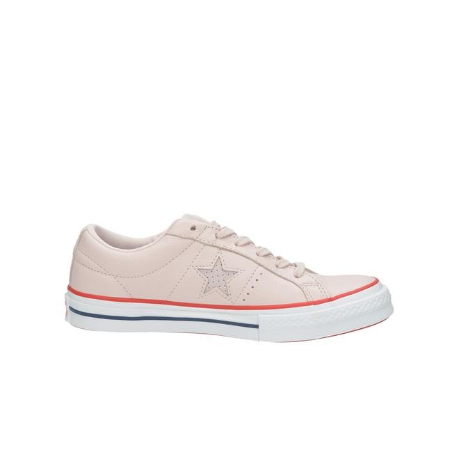 Converse dámské kožené tenisky - růžové ... 050e2b95892