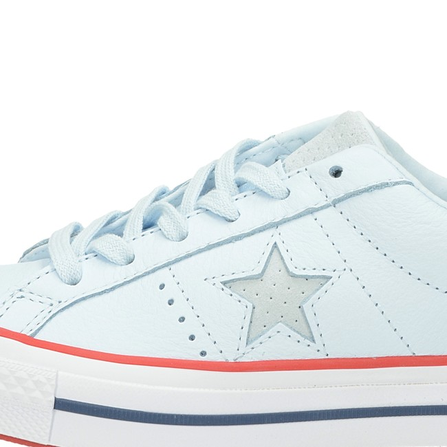61fa580da98 ... Converse dámské kožené tenisky - modré ...