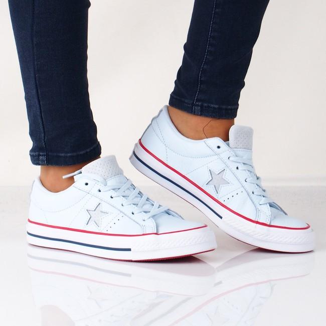 54e6913cb Converse dámské kožené tenisky - modré | C160626-BLU cz.robel.shoes