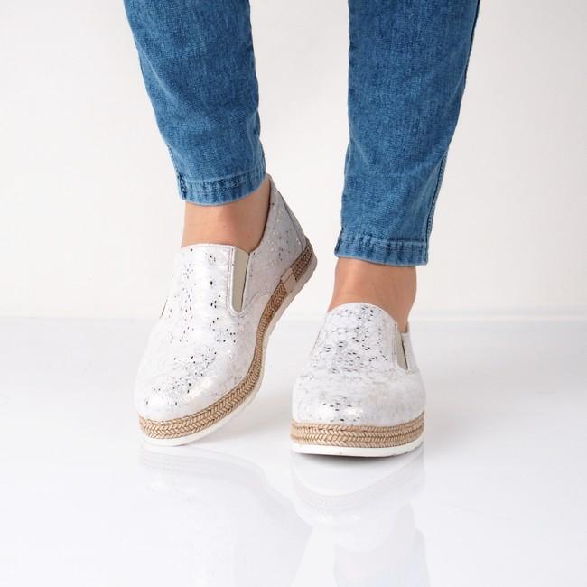 Olivia shoes dámské pohodlné espadrilky - šedé