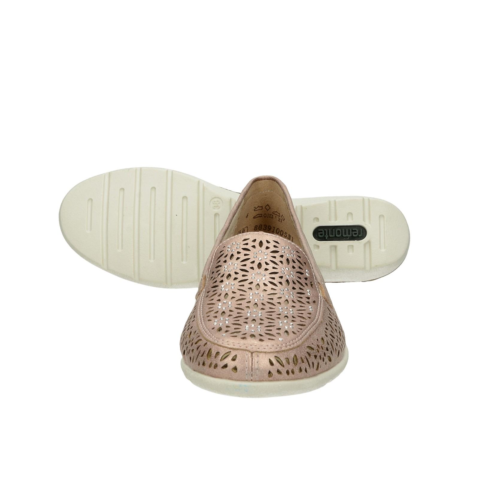 Remonte dámské stylové perforované tenisky - růžové