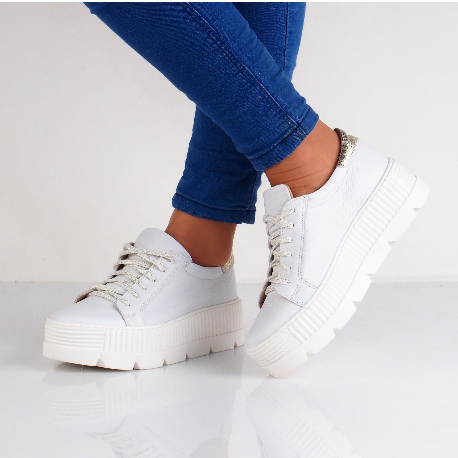 fdad43deba Olivia shoes dámské tenisky na platformě - bílé ...