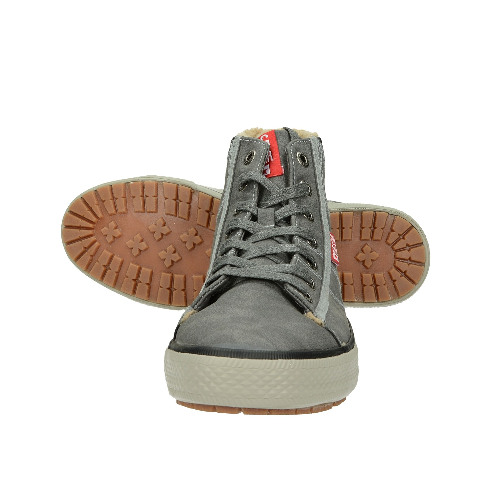 Big Star pánská stylová kotníková obuv - šedá